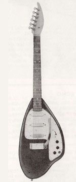 "Vox Apache electric guitar - from the Vox ""precision in sound"" catalogue, 1964"