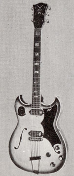 "Vox Challenger electric guitar - from the Vox ""precision in sound"" catalogue, 1964"