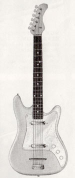 "Vox Clubman electric guitar - from the Vox ""precision in sound"" catalogue, 1964"