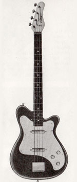 "Vox Clubman Bass guitar - from the Vox ""precision in sound"" catalogue, 1964"