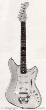 "Vox Consort electric guitar - from the Vox ""precision in sound"" catalogue, 1964"