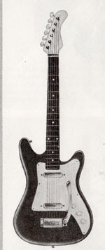 "Vox Duotone electric guitar - from the Vox ""precision in sound"" catalogue, 1964"