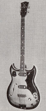 "Vox Escort Bass electric guitar - from the Vox ""precision in sound"" catalogue, 1964"
