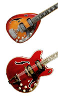 Vox Starstream and Cheetah guitars