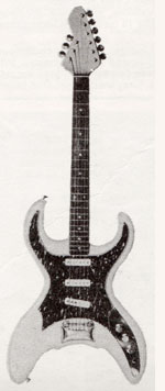 "Vox Scorpion electric guitar - from the Vox ""precision in sound"" catalogue, 1964"