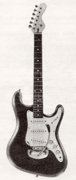 "Vox Soundcaster electric guitar - from the Vox ""precision in sound"" catalogue, 1964"