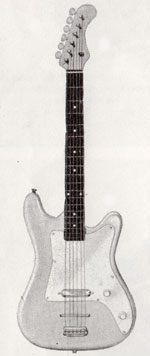 "Vox Stroller electric guitar - from the Vox ""precision in sound"" catalogue, 1964"