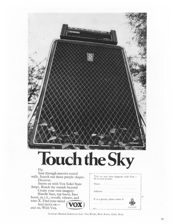 Vox advertisement (1968) Touch the sky