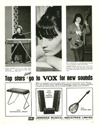 Vox Wyman Bass - Top stars always go to Vox for new sounds