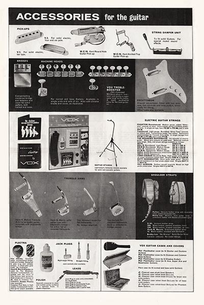 1964 Vox Precision in Sound catalogue page 6