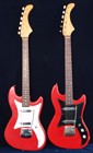 Two Vox Ace guitars from 1962 and 1963