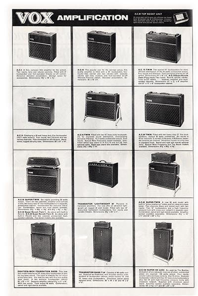 1964 Vox Precision in Sound catalogue page 2