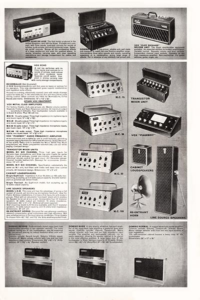 1964 Vox Precision in Sound catalogue page 3