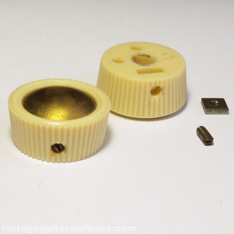 Vox (JMI) cream/gold plastic control knob