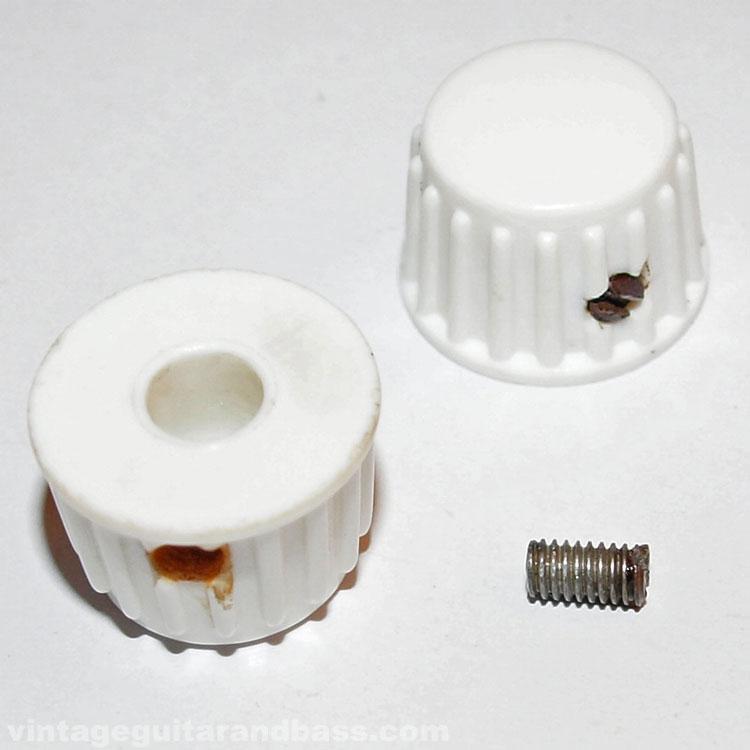 Vox (JMI) white plastic control knob 1