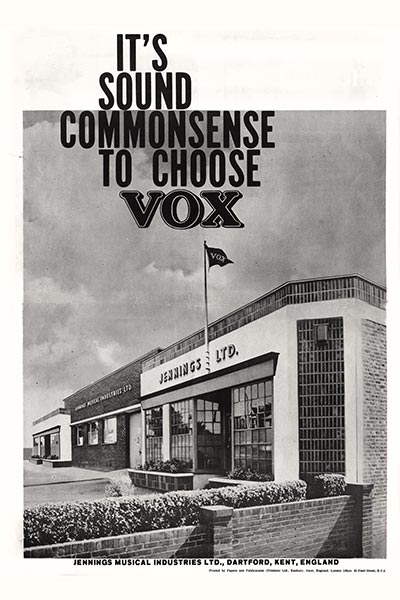 1964 Vox Precision in Sound catalogue page 8