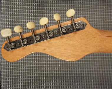 Vox Shadow headstock detail, reverse