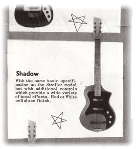 "Vox Shadow from the 1962 Vox ""Choice of the Stars"" catalogue"