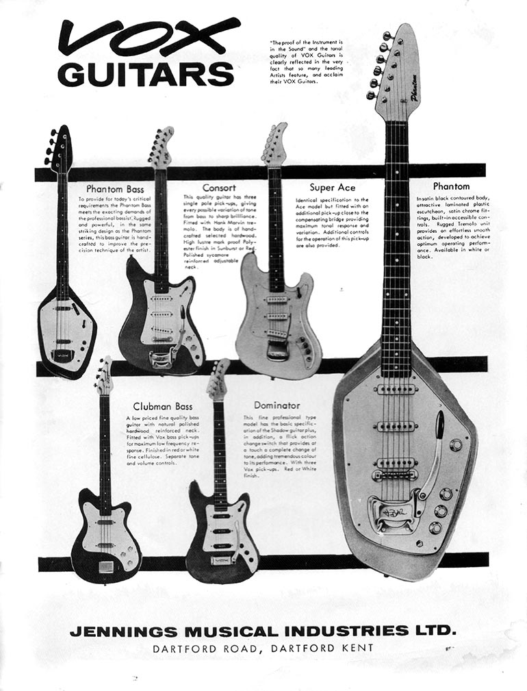 Vox advertisement (1963) Vox Guitars