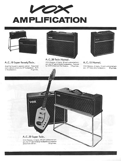 The Shadows modern electric guitar method - Vox amplifier advert