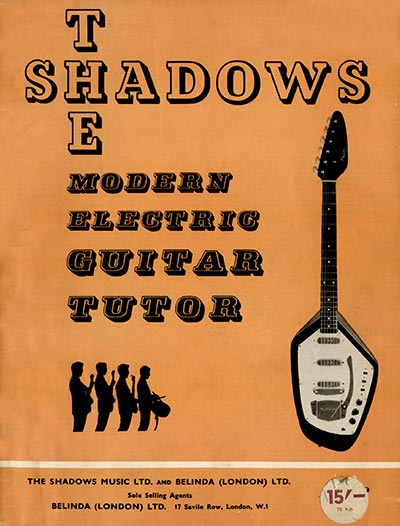 The Shadows modern electric guitar method - front cover