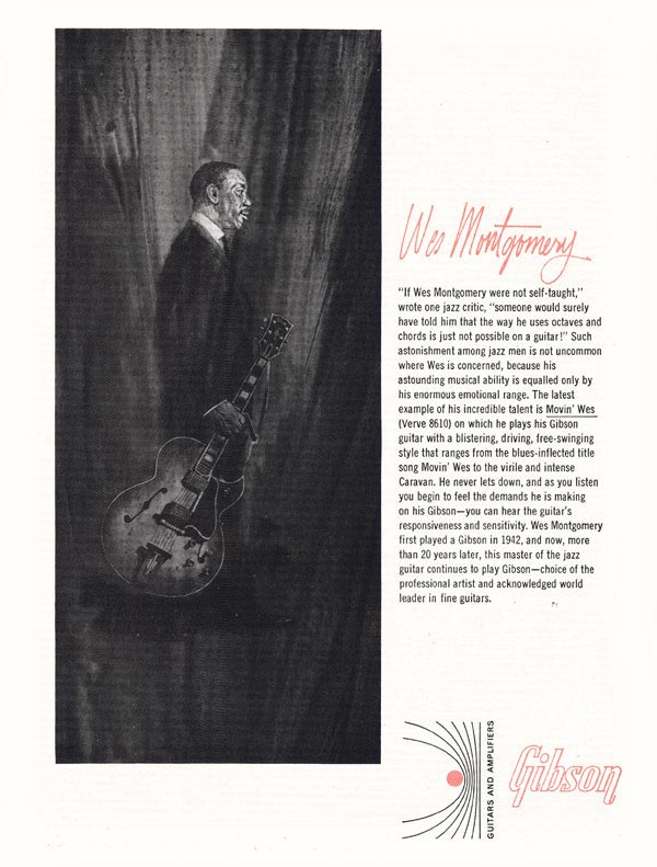 Gibson advertisement (1965) Wes Montgomery