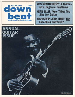 Wes Montgomery graces the cover of the 1964 Downbeat annual guitar issue
