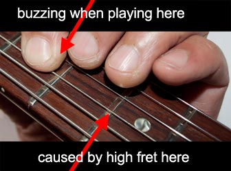 Fixing fret buzz and sharp fret ends
