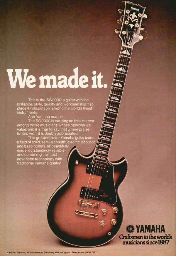 Yamaha advertisement (1977) We Made It